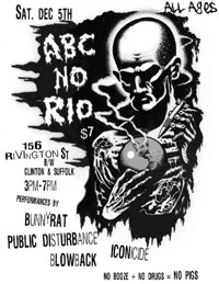 BLOWBACK at ABC no Rio